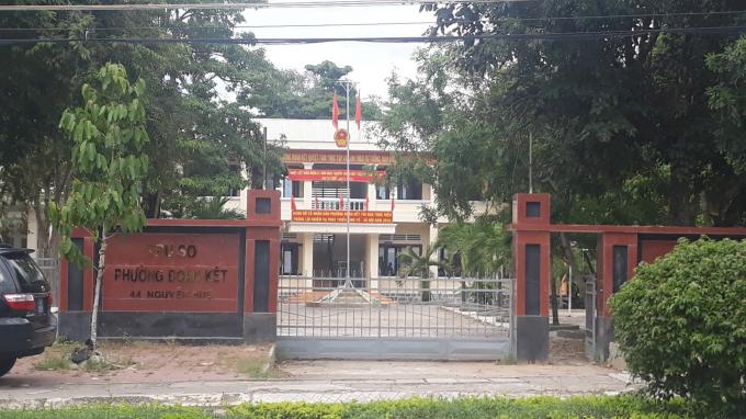 Trụ sở HĐND, UBND phườngĐoàn Kết Thị xã Ayunpa nơi xảy ra vụánđau lòng