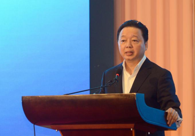 """Bộ trưởng Bộ Tài nguyên và Môi trường Trần Hồng Hà trình bày báo cáo """"Tình hình quản lý, sử dụng đất có nguồn gốc từ nông, lâm trường tại Tây Nguyên"""