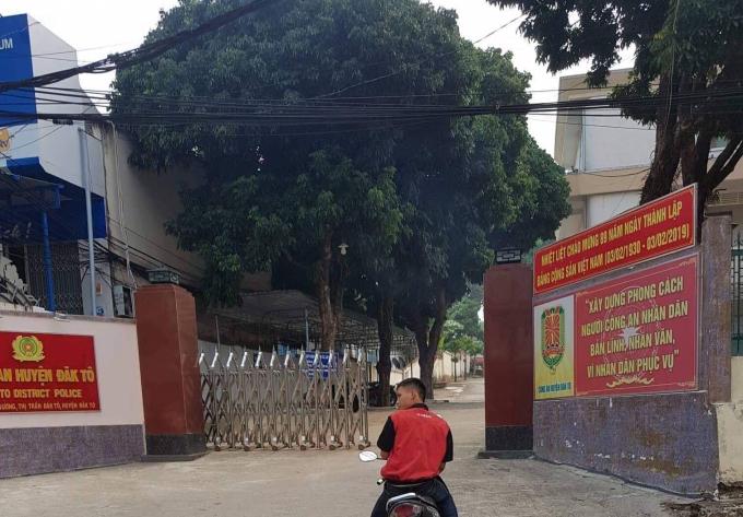 Công an huyện Đắk Tô, tỉnh Kon Tum nơi 4 bị can bỏ t rốn.