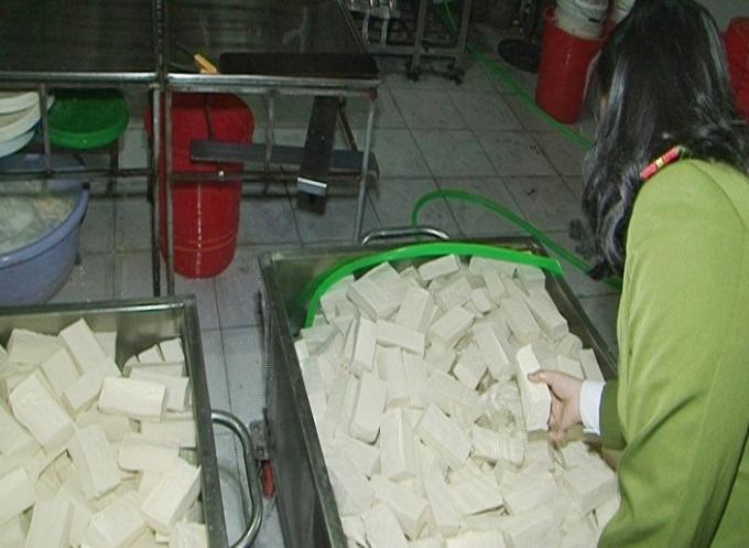 Số lượng khuôn đậu dùng thạch cao để tẩm vào ở cơ sở bị phát hiện.