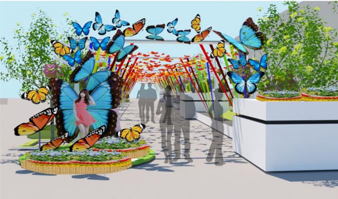 Khu vườn kỳ lạ với những cánh bướm nhiều màu sắc và kích cỡ