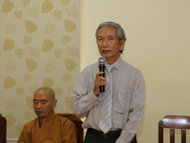Ông Trần Đình Sơn, Phó Ban Văn hóa T.Ư GHPGVN nêu lên thực trạng hiện nay.