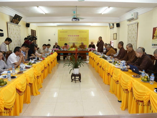 Tọa đàm về bảo tồn, phát huy di sản văn hóa Phật giáo Việt Nam.