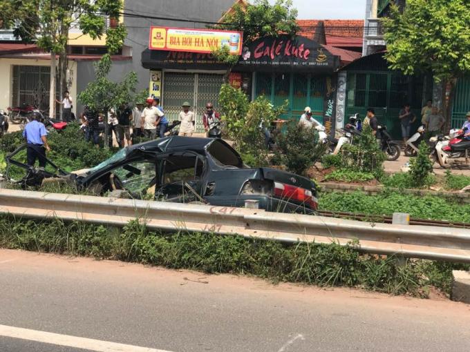 Hiện trường vụ tai nạn trên.