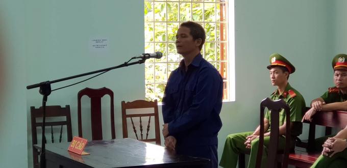 Bị cáo Hoàng Văn Phương trong phiên tòa.