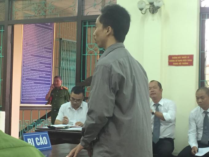 Bị cáo Trần Thoát Hoan.
