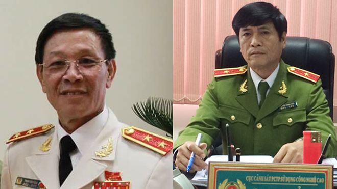 Ông Phan Văn Vĩnh và ông Nguyễn Thanh Hóa khi còn đương chức.