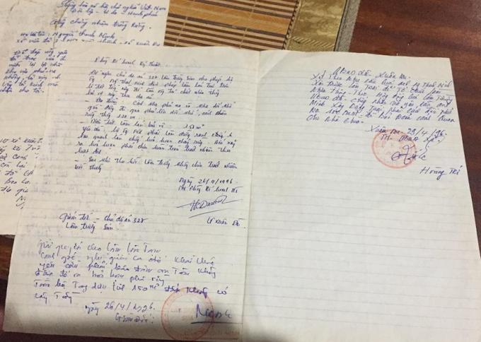 Đơn xin làm lán trại của ông Nguyễn Thanh Minh và có sự đồng ý, xác nhận của Ban quản lý rừng phòng hộ Sim.