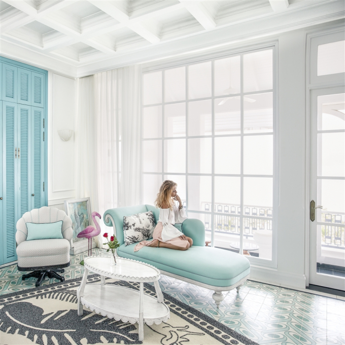 Mang kiến trúc Pháp điển hình với những phòng nghỉ tiện nghi thoải mái nhất.