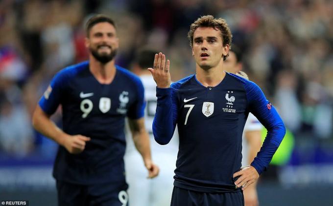 Cú đúp củaGriezmann giúp đội tuyển Pháp đánh bại đội tuyển Đức với tỉ số 2-1. (Ảnh: Reuters)