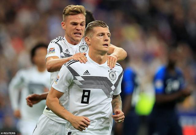 Kroos ghi bàn thắng mở tỉ số cho đội tuyển Đức. (Ảnh: Reuters)