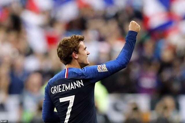 Griezmann giúp đội tuyển Pháp ngược dòng thành công. (Ảnh: AP)