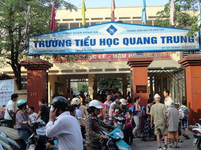 Trường Tiểu học Quang Trung, nơi xảy ra sự việc.
