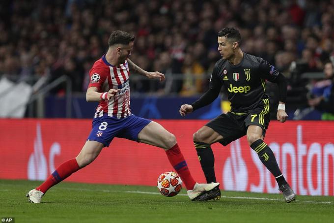 Ronaldo chơi nhạt nhòa ở trận đấu này. (Ảnh: AP)
