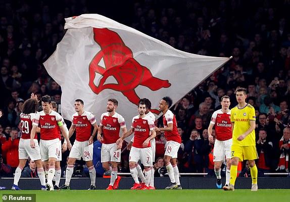Arsenal đã đánh bại BATE để bước vào vòng 1/8Europa League. (Ảnh: Reuters)