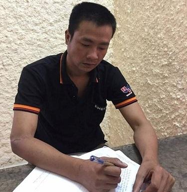 Đối tượng Hồ Anh Tuấn tại cơ quan điều tra.