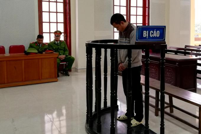 Hoàng Văn Thuận tại phiên xét xử ngày 28/12.