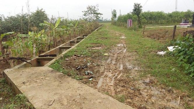 Một phần công trình tại dự án nâng cấp trạm bơm và hệ thống kênh nội đồng xã Nghi Vạn vừa bị thanh tra phanh phui nhiều sai phạm.