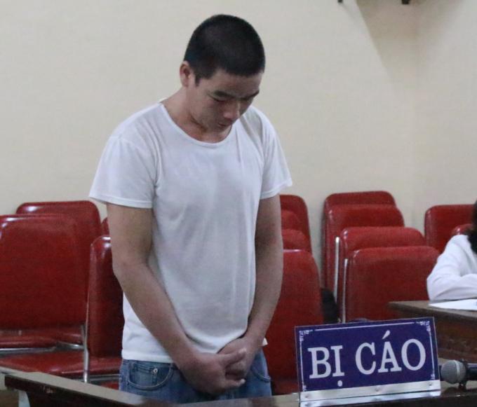 Quang Văn Bốn tại phiên tòa ngày 20/9.