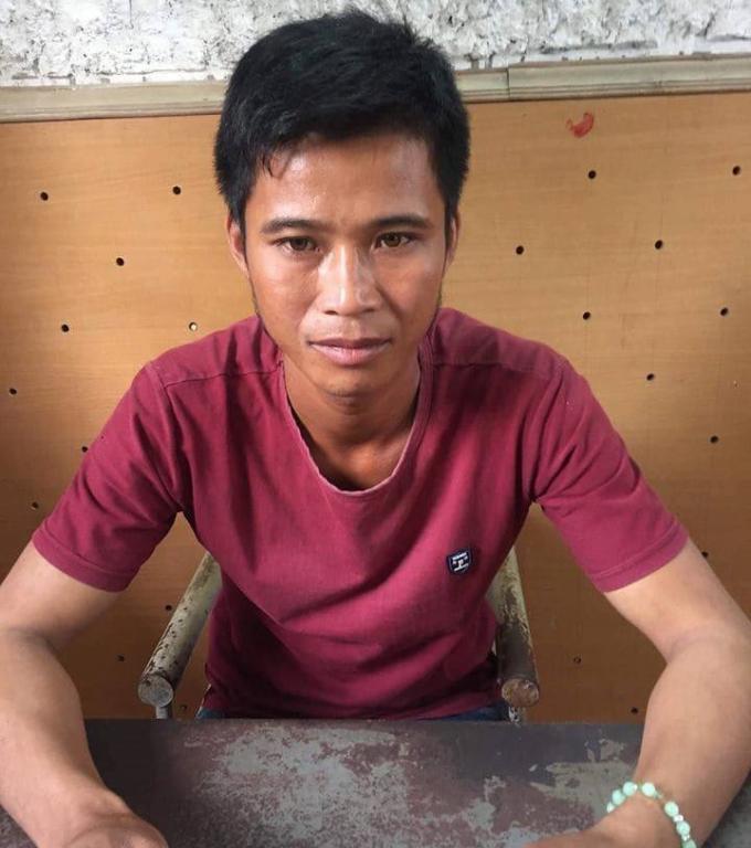 Trần Văn Hoa tại cơ quan điều tra.