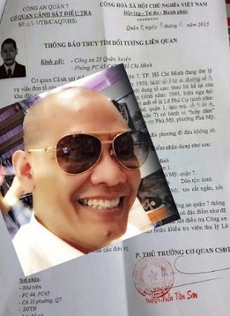 """Chân dung nghi phạm Lê Phú Cự và """"Thông báo truy tìm đối tượng liên quan"""" được cơ quan điều tra xác nhận vẫn còn hiệu lực."""