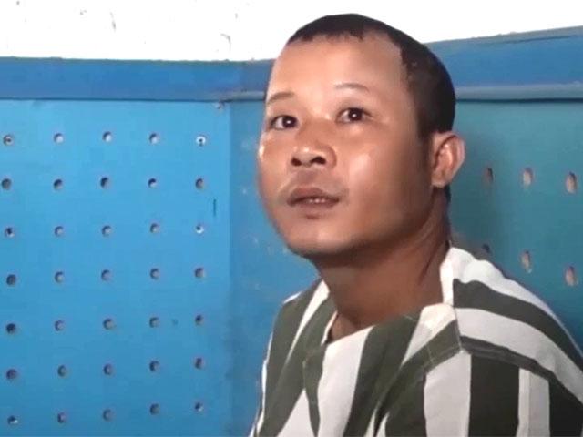 Nguyễn Đỉnh tại cơ quan điều tra. (Ảnh: báo Cần Thơ)