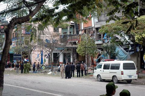 Vụ nổ mìn ở nhà Giám đốc công an tỉnh Thái Nguyên.