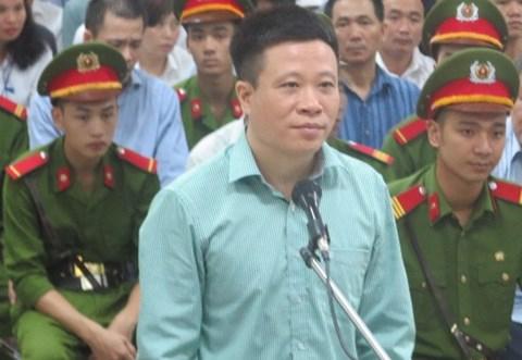 Bị cáo Hà Văn Thắm trước tòa. (Ảnh: báo An ninh thủ đô)
