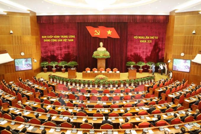 Toàn cảnh Hội nghị lần thứ Tư khóa XII của Đảng. Ảnh: TTXVN