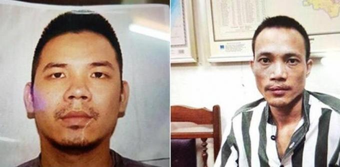 Hai tử tùLê Văn Thọ (trái)và Nguyễn Văn Tình (phải).