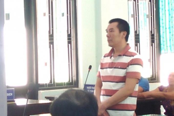 Bị cáo Võ Sỹ Trung tại phiên tòa. (Ảnh:báo Công lý)