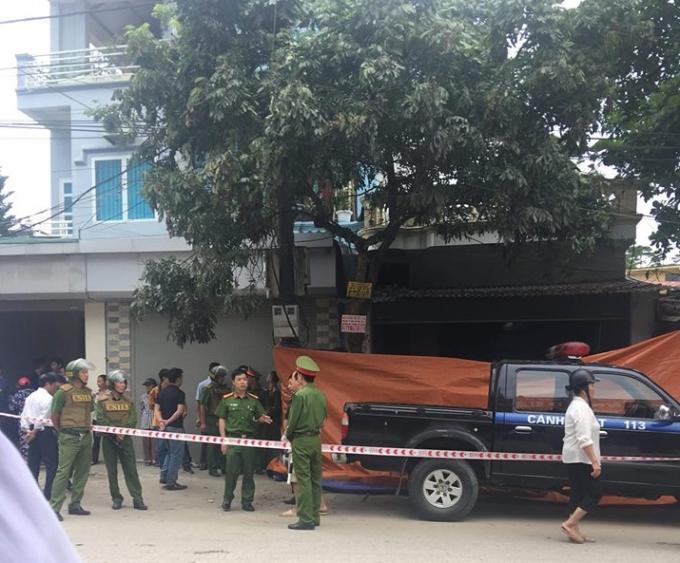 Hiện trường vụ xả súng khiến 3 người tử vong. (Ảnh: báo Dân Việt)