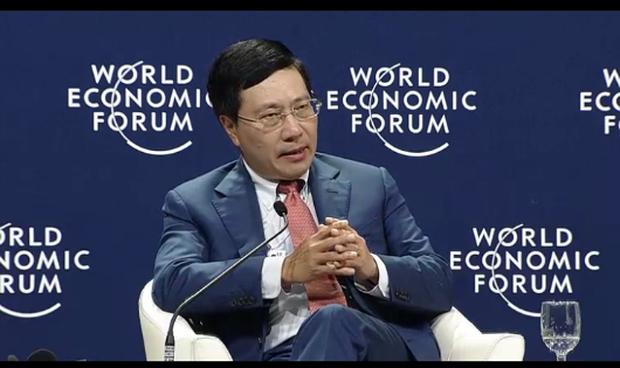 Phó Thủ tướng Phạm Bình Minh phát biểu tại phiên thảo luận.