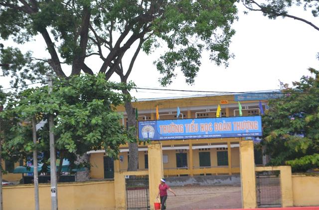 Trường tiểu học xã Đoàn Thượng, nơi xảy ra sự việc đau lòng. Ảnh: Đ.Tuỳ.