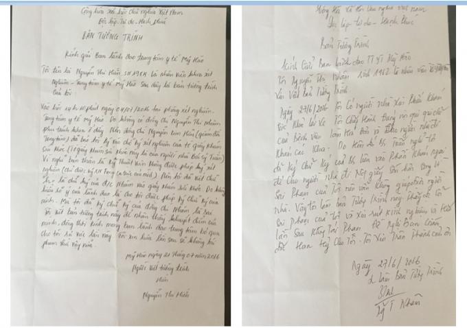 Bản tường trình của một số bác sĩ dưới sự phụ trách của bà Oanh thừa nhận sai sót trong việc giả mạo chữ ký để cấp giấy khám sức khỏe và phiếu xét nghiệm.