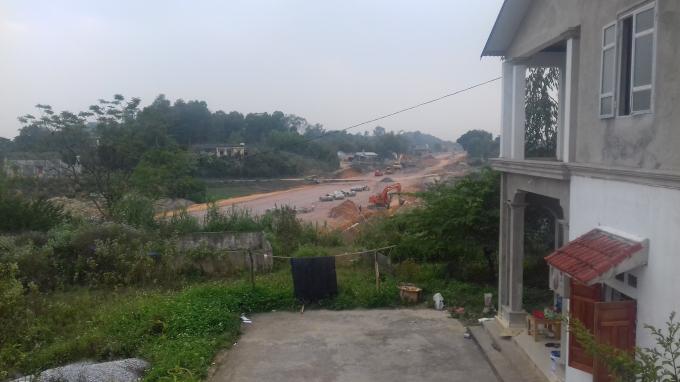 Dự án làm đường 36 mét nối khu công nghiệp Sông Công II với QL3 cũ và nút giao Sông Công chạy qua đất của các hộ dân.