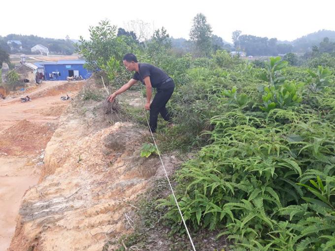 Phần đất của gia đình ông Nhất, Nhì sắp được UBND TP Sông Công tiến hành cưỡng chế.