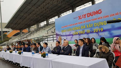 Báo Xây dựng tổ chức giao lưu bóng đá Xây dựng mở rộng lần thứ IV - 2019.