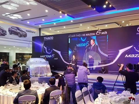 Lễ công bố ra mắt Mazda6.