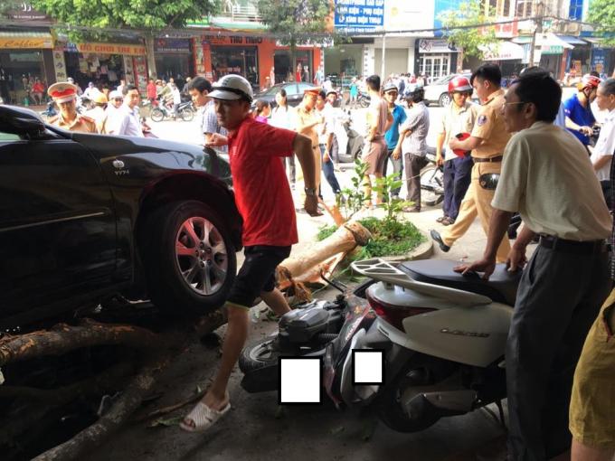 Hiện trường vụ tai nạn giao thông. (Ảnh: FB Soái Muội)