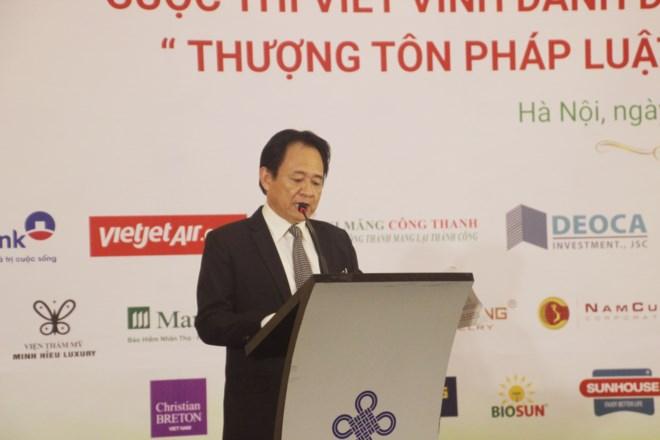 Phó Tổng biên tập Đặng Ngọc Luyến phát biểu tại buổi lễ.