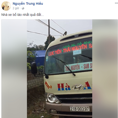 Xe Hà Anh bị tố đánh hành khách. Ảnh: Chụp màn hình
