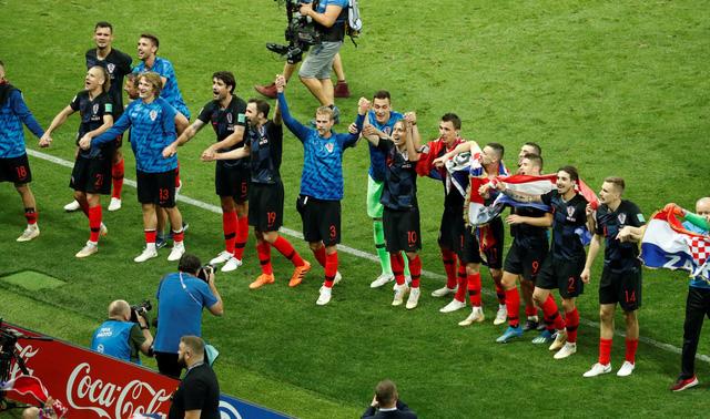 Cầu thủ Croatia tri ân người hâm mộ đã đến sân Luzhniki