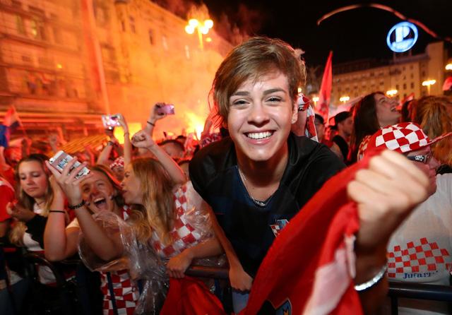 Người hâm mộ ở thủ đô Zagreb đã sẵn sàng cho màn ăn mừng thâu đêm suốt sáng