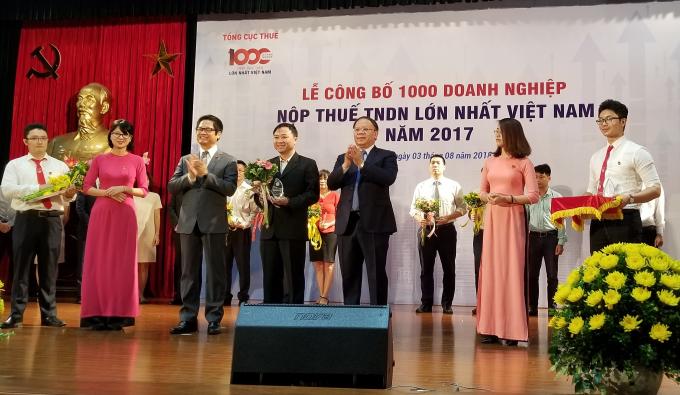 Công ty FrieslandCampina VNthuộc Top 100 doanh nghiệp đóng góp nhiều nhất cho ngân sách Nhà nước 2016-2017