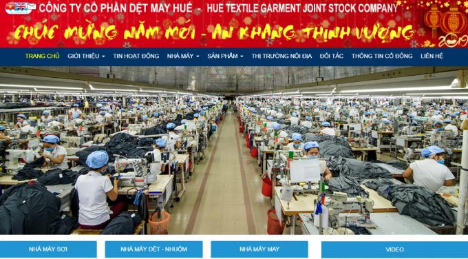 Công ty cổ phần Dệt may Huế bị xử phạt hành chính. (Ảnh: Chụp màn hình)