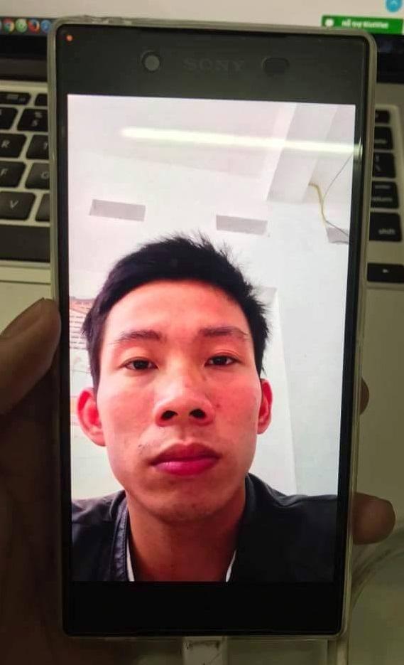 Hình ảnh lưu lại trên điện thoại do nam thanh niên