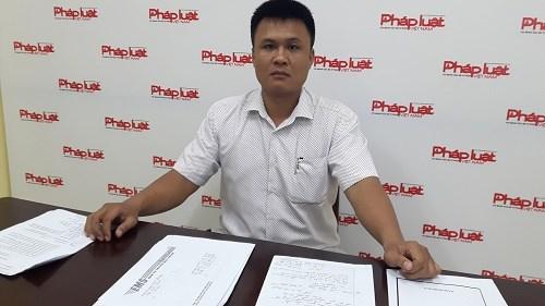 Anh Việt bức xúc trình bày với Báo Pháp luật Việt Nam.