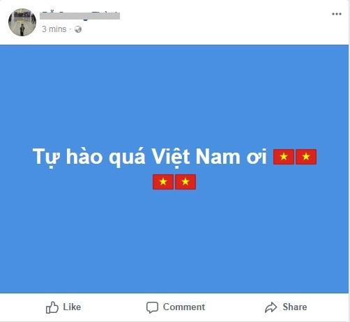 Facebook tràn ngập hình ảnh chúc mừng chiến thắng của đội tuyển U23 Việt Nam.