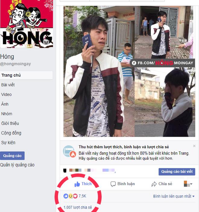 Ảnh được chụp từ Page Hóng.
